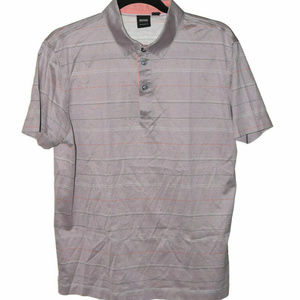 Hugo Boss Large Beige Stripe Orange Blue Polo